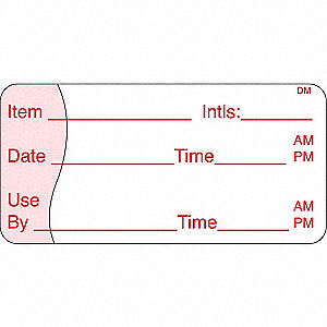 Shelf Life Label,5-5/9 In. W,PK500