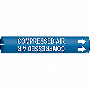 Pipe Marker,Compressed Air,Blue,4 to6 In