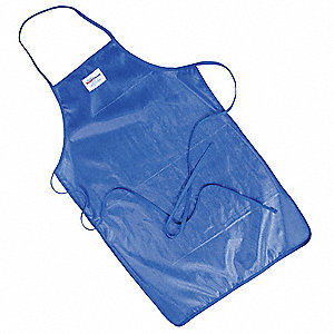 Bib Apron,Blue,36 In. L,24 In. W