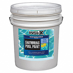 Ocean Blue Paint, Semi-Gloss Finish, 250 to 300 sq. ft./gal. Coverage, Size: 5 gal.