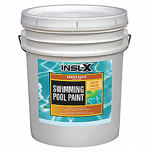 White Paint, Satin Finish, 400 to 500 sq. ft./gal. Coverage, Size: 5 gal.