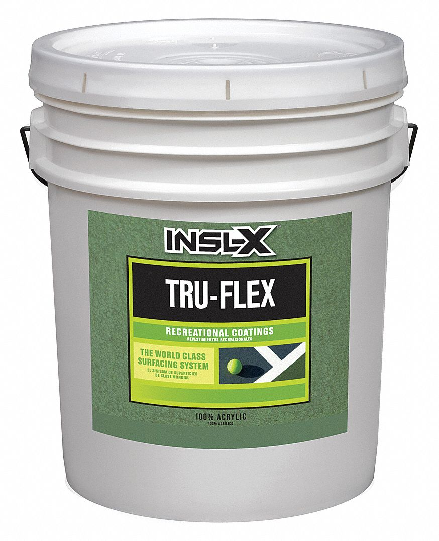 Dark Green Paint, Flat Finish, Diluted 75 sq ft/gal; Undiluted 150 sq ft/gal Coverage, Size: 5 gal