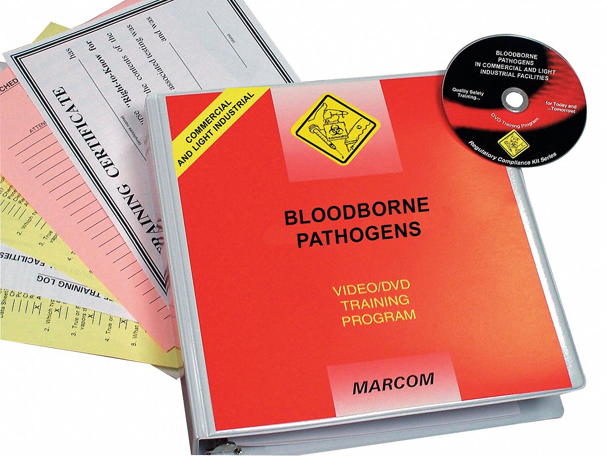 Bloodborne Pathogens DVD Program,  DVD,  Biological Hazard Training,  English