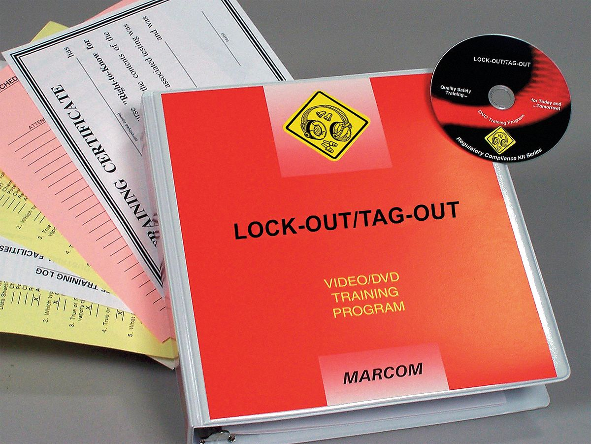 Compliance Training Program,  DVD,  Lockout/Tagout,  English
