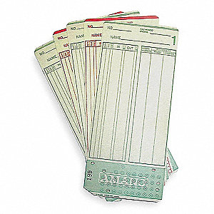TIME CARD,7 1/4X3 1/4IN,PK1000