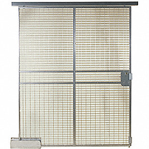 Sliding Door, Material: Welded Wire, Overall Height: 8 ft., Overall Width: 6 ft.