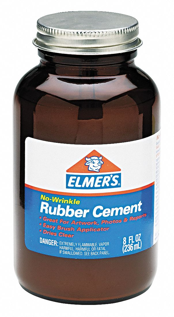 8 oz. General Purpose Rubber Cement, Opaque
