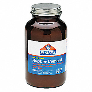 Rubber Cement,8 oz. Bottle,Opaque