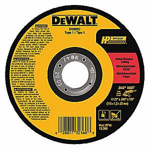 Dewalt 4 1 2 Quot Type 1 Aluminum Oxide Abrasive Cut Off