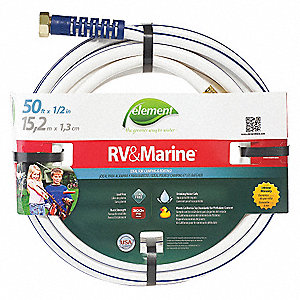 WATER HOSE,PVC,1/2 IN ID,50 FT L