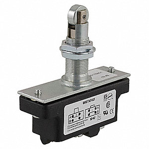 15A @ 600V Panel Mount, Plunger, Roller Industrial Snap Action Switch; Series 9007AP