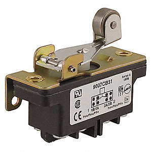 10A @ 600V Lever, Roller Industrial Snap Action Switch&#x3b; Series 9007CB