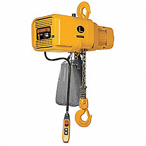 H4 Electric Chain Hoist, 2000 lb. Load Capacity, 460V, 20 ft. Lift, 14/2.5 fpm