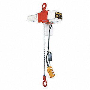 H2 Electric Chain Hoist, 250 lb. Load Capacity, 120V, 15 ft. Hoist Lift, 26/10 fpm