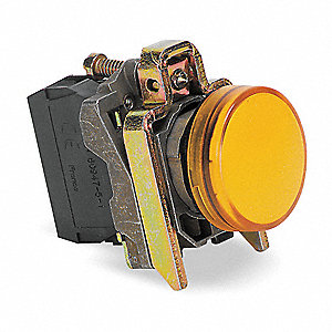 Pilot Light Complete,Yellow,22mm