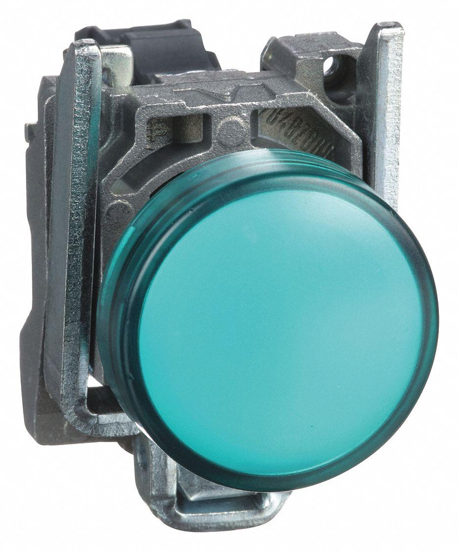 SCHNEIDER ELECTRIC Pilot Light Complete, 22mm, 110 to 120VAC Voltage ...