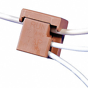 BALLAST TAP,18 TO 12 AWG,600V,BROWN