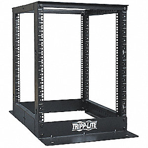 "Open Frame Rack,4-Post, Mounting Style: Floor Mount, Load Rating:  1000 lbs., 28.00"" Height"