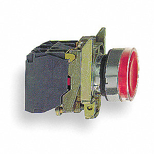PUSHBUTTON,RED,22 MM