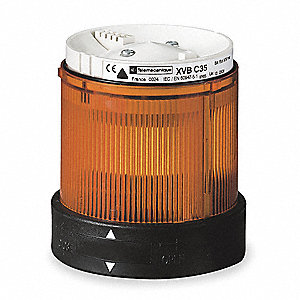 240VAC Incandescent or LED Tower Light Module Steady with 70mm Dia., Amber