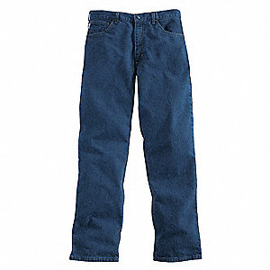 "Blue Pants, Cotton, Fits Waist Size: 40"", 32"" Inseam, 12.1 cal./cm2 ATPV Rating"