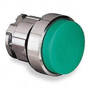 HEAD EXTENDED PUSHBUTTON GREEN