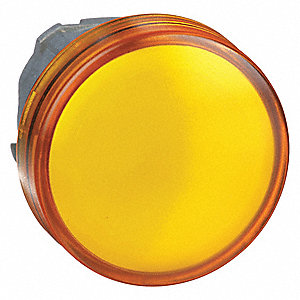Pilot Light Head,Yellow,LED