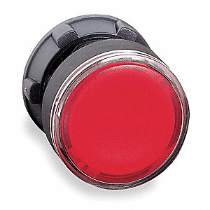Illum Push Button Operator,22mm,Red