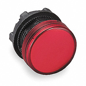 22mm Smooth Plastic Pilot Light Head, For Use With Schneider ZB4BV Mount Base and Integral LED modul