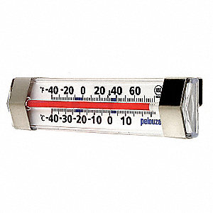"4-5/8"" Analog Liquid Filled Food Service Thermometer with -40° to  80° Temp. Range (F)"