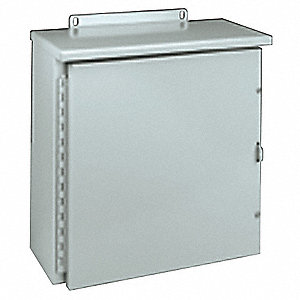 ENCLOSURE,STEEL,NEMA 3R, 16X16X6 IN