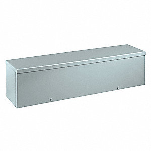 "4""H x 48""W x 4""D Metallic Wiring Trough, Silver, Knockouts: No, Screws Closure Method"