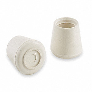 Protective Leg Tips,Slip-On,Round,PK24