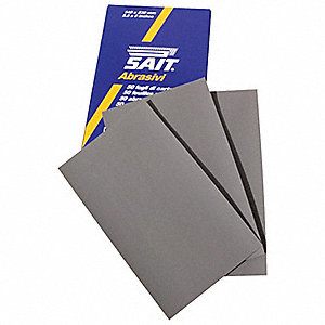 "Ultra Fine Silicon Carbide Sanding Sheet, 1500 Grit, 9"" W, Backing Weight : C, 50 PK"