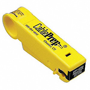 "Cable Stripper,4-1/2"" Overall Length,1/4"" Capacity,RG6/59 Cable Type"