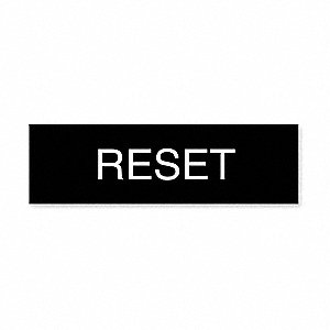 STD NAMEPLATE: RESET