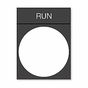 Legend Plate,Run,White/Black and Red