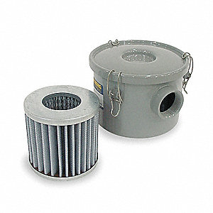 Standard Duty Carbon Steel Vacuum Filter, 99% Efficiency Rating