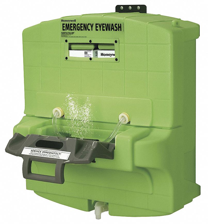 Eye Wash Station,  7.0 gal Tank Capacity,  Activates By Pull Tray,  Wall or Cart Mounting