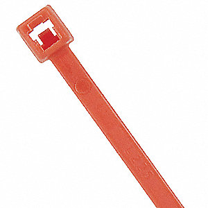 Cable Tie,Standard,7.9 in.,Orange,PK100