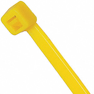 Standard Outdoor Cable Tie, Nylon, Yellow, Tensile Strength: 50 lb.