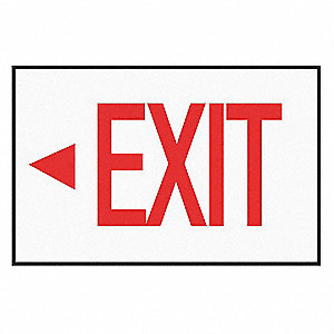 Exit Sign Decal,NWP Series,Arrow Left