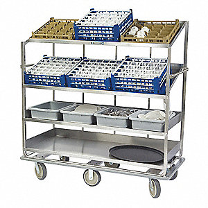 Soiled Dish Cart,L 37-3/4xW 30-7/8 In