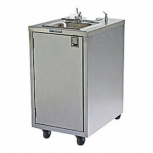 120V Single Bowl Handwashing Station Gray