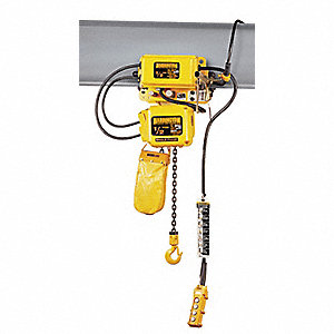 H4 Electric Chain Hoist, 2000 lb. Load Capacity, 115/230V, 10 ft. Lift, 14 fpm