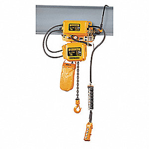 Electric Chain Hoist w/Trolley,500 lb.
