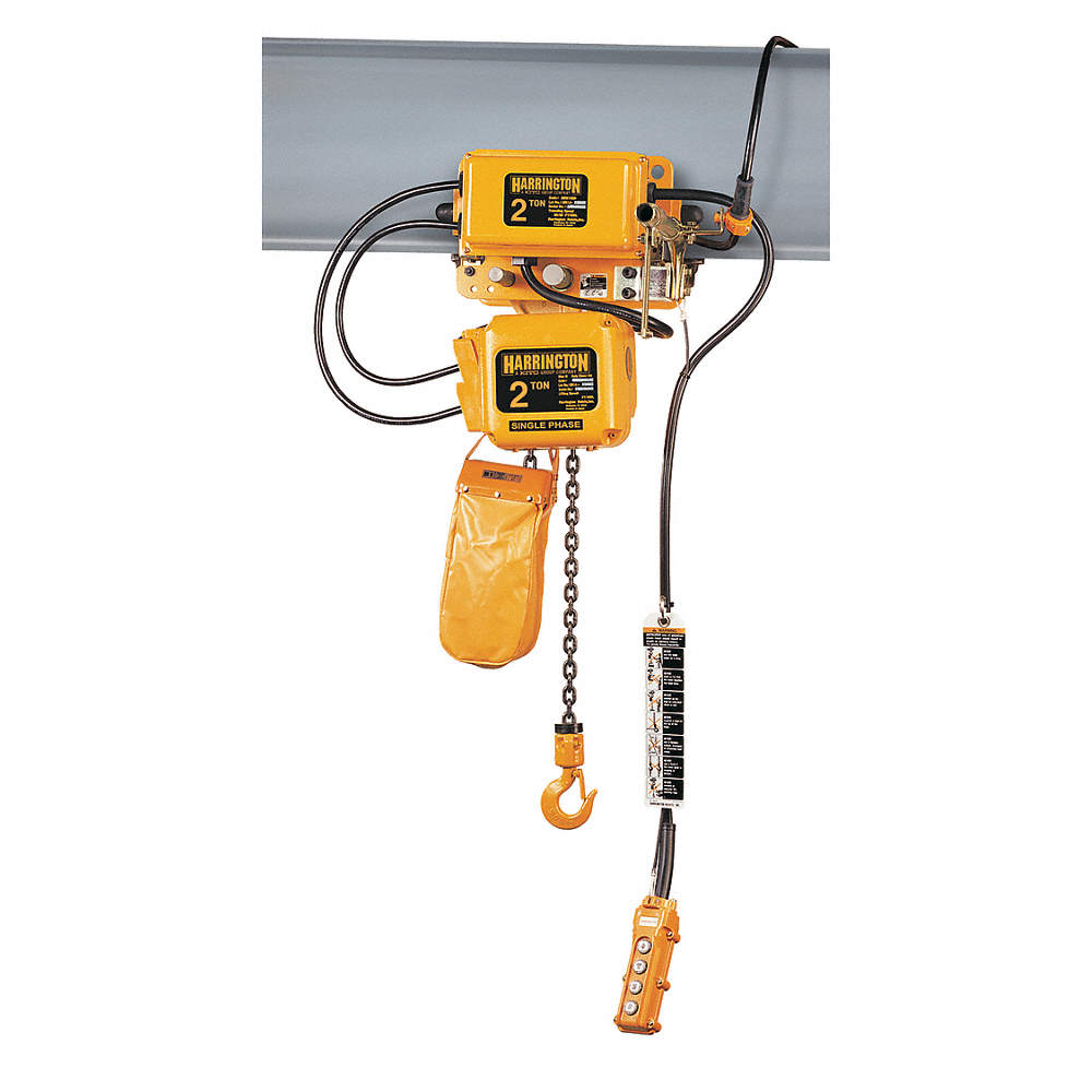 6JGA8_AS01?$zmmain$ harrington electric chain hoist w trolley,4000 lb 6jgc0 Harrington Chain Hoist Parts at edmiracle.co