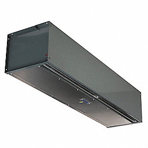 High Velocity Air Curtain, 7 ft. Max. Door Width, 14 ft. Max. Mount Ht., 65 dBA @ 10 Feet, 5000 fpm