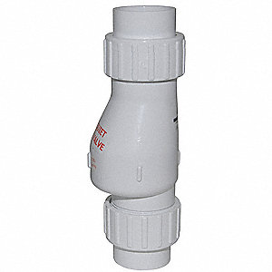 "1-1/2"" Full Flow Check Valve, PVC, Solvent Weld Connection Type"