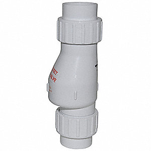 CHECK VALVE,2 IN,SOLVENT WELD,PVC